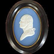 19th c. Wedgwood Jasperware Portrait Bust Plaque of President George Washington
