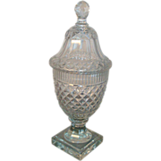 Fine 18th century Georgian Anglo Irish Cut Lead Crystal Glass Urn 1790 - 1800
