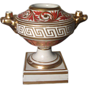 Early Derby Porcelain Urn Form Inkwell c. 1800