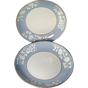 Large Pair Early 19th century Spode Deep Dishes or Cake Plates in Pattern 2036 - c ...