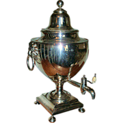 Late 18th / Early 19th c. Antique Regency Old Sheffield Silver on Copper Samovar or Hot Water