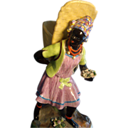 Early 19th c. Jacob Petit Old Paris Porcelain Blackamoor Figure 1820
