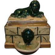 Fine Antique Old Paris Porcelain Inkwell in the Form of a Roman Fountain 1810