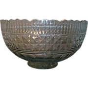 18th c. Georgian Anglo Irish Cut and Faceted Glass Punch Bowl 1780