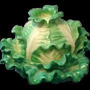 Antique 19th century English Coalport Cabbage form Porcelain Tureen or Box
