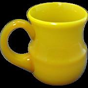 Antique 19th century Chinese Canary Yellow or Egg Yolk Peking Glass Mug