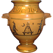 Antique Early 19th century Coalport Porcelain Classical Urn or Vase with Egyptian Hieroglyphic