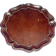 Fine & Rare Antique 18th century George III Carved Mahogany Chippendale Tray or Coaster 1790