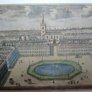 18th century Print of St. James Square London