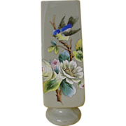 SOLD Hand Enameled Art Glass Vase signed WEBB...