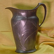 Large Kayserzinn Art Nouveau Pewter Water Pitcher