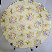 Pink Flower Chintz Plate, Royal Stafford Bone China , Elizabeth  8.25 Inch