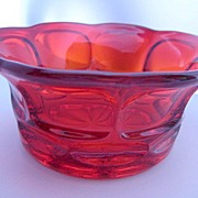 SOLD Ruby Red Fostoria Glass Bowl - Henry Ford Museum Marked