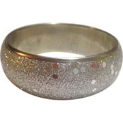 Silver-Tone Glitter and Spangle Covered Metal Bangle