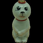 SALE Garnier Porcelain Dog Flask France