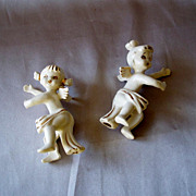 Vintage Holt Howard Angel Candle Climbers