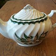 Vintage Ceramic Teapot  With A Gardenia Flower