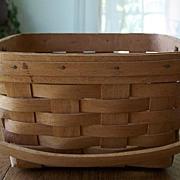 SOLD Handmade Longaberger Basket Dated 1990