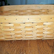 Hand Crafted Longaberger Basket 2000