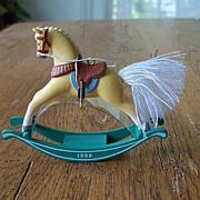 Hallmark Keepsake Rocking Horse Ornament 1986