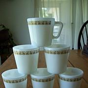Six Pyrex Tiburon Mugs USA