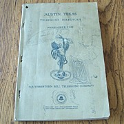 1939 Austin Texas Telephone Directory Southwestern Bell