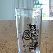 Sharpshooter Annie Oakley Character Glass