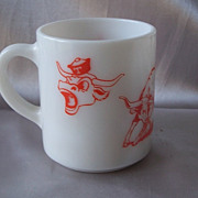 Texas UT Longhorn Milk Glass Mug