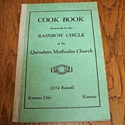 SOLD Rainbow Circle Quindaro Methodist Church Cookbook 1954