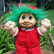 SALE Russ Troll Doll In Red Pajamas