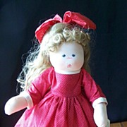 SALE Handcrafted Rag Doll By Ruth Johnson