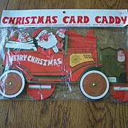 Vintage Christmas Card Caddy Japan