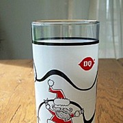 Dairy Queen Promotional Christmas Santa Glass