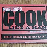 SOLD Marlboro Cook Like A Man Cookbook
