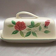 Maruta June Rose Covered Butter Dish