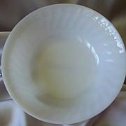 Fire King Oven Ware White Swirl Vegetable Bowl