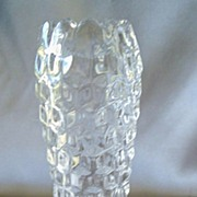 American Fostoria Crystal Cupped Vase