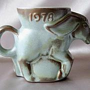 Frankoma Political Donkey Woodland Moss Mug