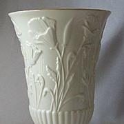 Porcelain Lenox Ivory Poppy Floral Vase