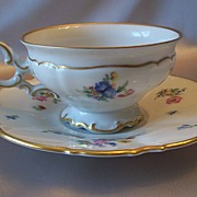 Hutschenreuther Selb Bavarian Cup And Saucer U.S. Zone