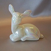 Fenton Art Glass Fawn Figurine