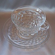 American Fostoria Crystal Cup And Saucer