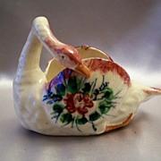 Hand Painted Ceramic Swan Japan