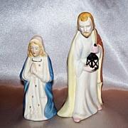 Vintage Ceramic Joseph And Mary Nativity Figurine Christmas