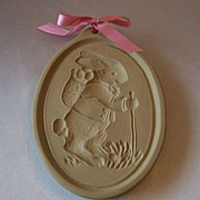 Brown Bag Cookie Mold Bunny With Backpack Retired Easter