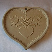 Brown Bag Cookie Art Folk Heart Retired
