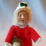 Byers Choice Girl Carrying Doll