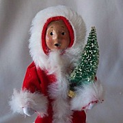 Byers Choice  Caroler Toddler Carrying A Tree