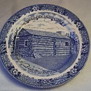 Staffordshire Ware Lincoln New Salem Commemorative Plate