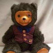 Robert Raikes  Bently Carved Wood Face Bear